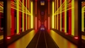 3d illustration of 4K UHD 60FPS futuristic tunnel with glowing lights 78600779