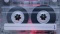 vintage cassette start playing inside deck 79437256