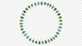 シンプルな緑の木々がまわるイラスト動画 79631841