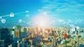 都市とネットワーク スマートシティー  80529340