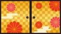 襖 日本式扉のスライドアニメーション 80609057