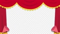 舞台カーテンとクラッカーの手書き風アニメーション 80721019