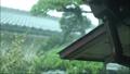 玄関の屋根に打ち付ける雨 80969667