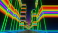 Future neon city. VJ synthwave looping 3D animation for music video. 81890101