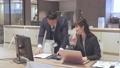 ビジネス オフィスでパソコンを見て会話する男女 撮影協力:WEEK芝大門(サンフロンティア不動産) 81956029