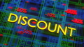 SALE animation concept. Discounts from 10 to 50 percent moving down on neon digital background. 81990667