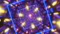 Abstract seamless looped neon animation of Infinite tunnel Squares form tunnel sectors. VJ Loop. Abstract VJ loop, 3d render. 82139140