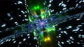 Flight through Square shaped Neon tunnel. Futuristic glow sci-fi VJ Loop. Abstract background, 3d render. 82169838