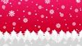 森に雪と結晶が降るアニメーションのグラデーション背景パターン  82378257