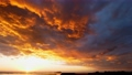 Black clouds with a dubious atmosphere-sunset perming4k21092103 Video material 82385000