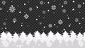森に雪と結晶が降るアニメーションのグラデーション背景パターン 背景透過 82787829
