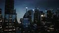 skyline at night with urban buildings 83047059