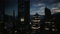 skyline at night with urban buildings 83047061