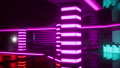 empty night club with neon lights 83047073