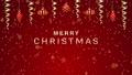 """クリスマス装飾 吊り下がり弾むアニメ 赤色 文字付き""""MERRY CHRISTMAS"""" 83184715"""
