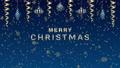"""クリスマス装飾 吊り下がり弾むアニメ 青色 文字付き""""MERRY CHRISTMAS"""" 83184717"""