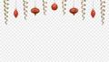 アルファチャンネル 赤色のクリスマス装飾 吊り下がり弾むアニメ 83184724