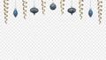 アルファチャンネル 青色のクリスマス装飾 吊り下がり弾むアニメ 83184726