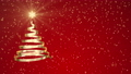 クリスマスツリーの形に渦巻くリボンのアニメ 赤 CG背景 83186404