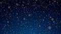 ループ素材 金色の雪が降るアニメ CG背景 青色 83186597